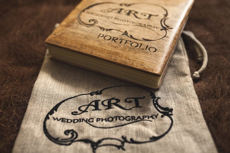 handmade wooden wedding album