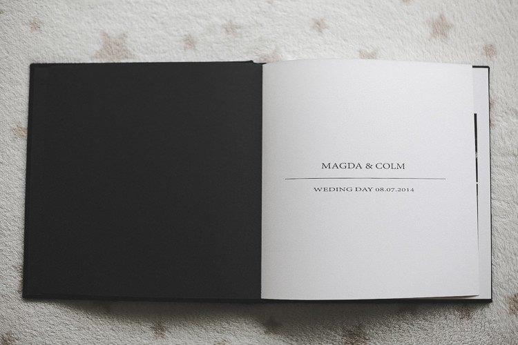 Artistic Linen Wedding Album