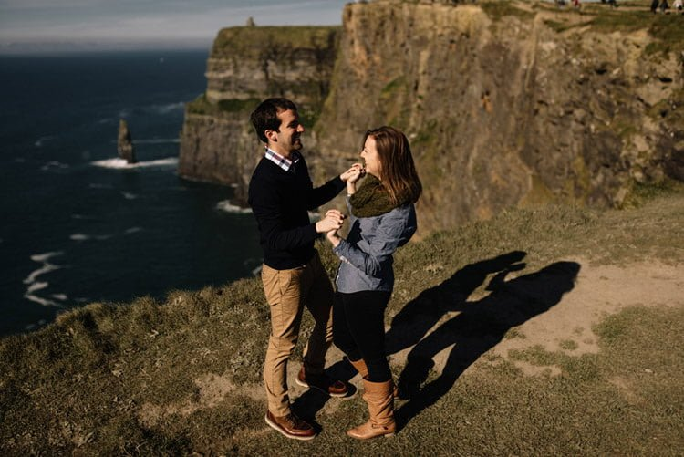 114 cliffs of moher proposal session wedding photographer ireland