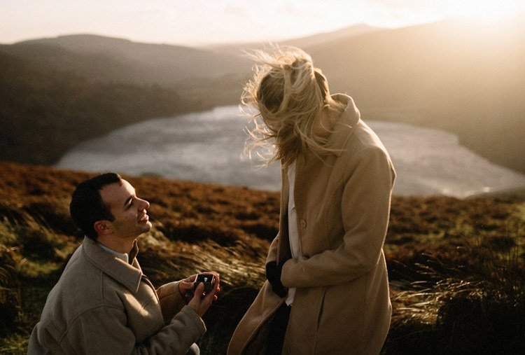 066 wicklow mountain proposal an intimate engagement session