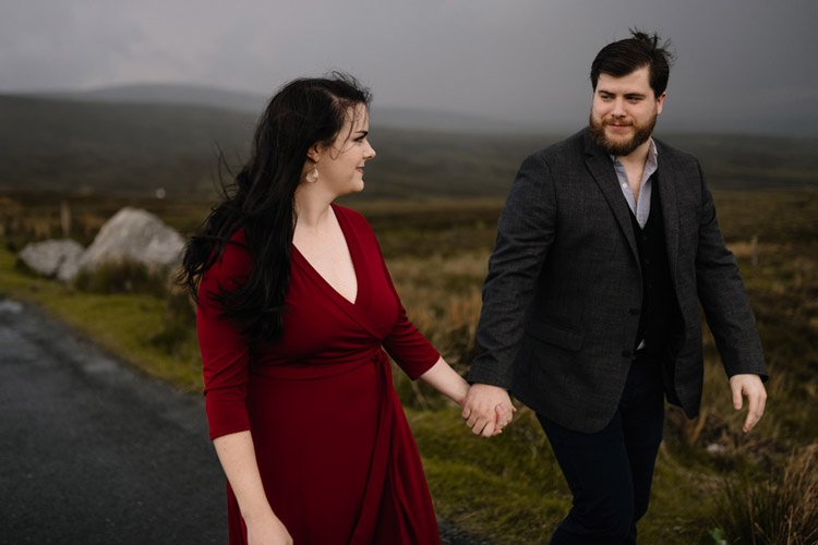 001 wicklow engagement session mountains moody style weather american couple