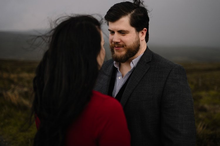 002 wicklow engagement session mountains moody style weather american couple