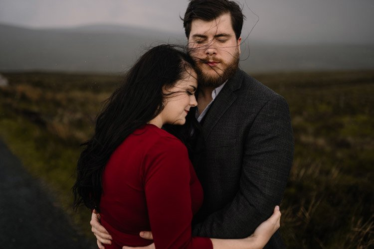 003 wicklow engagement session mountains moody style weather american couple