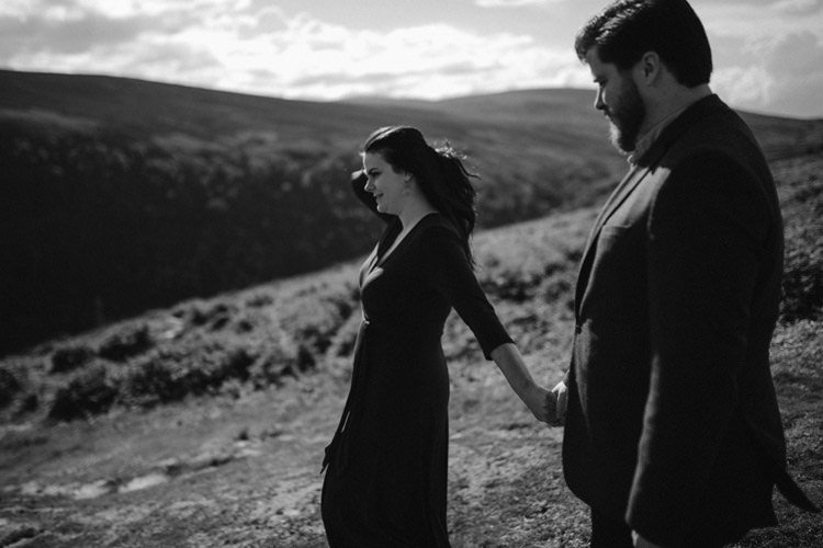 004 wicklow engagement session mountains moody style weather american couple