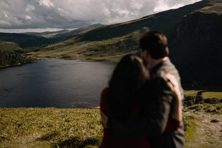007 wicklow engagement session mountains moody style weather american couple