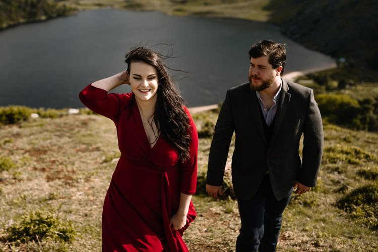 009 wicklow engagement session mountains moody style weather american couple