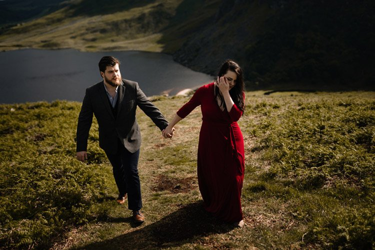 010 wicklow engagement session mountains moody style weather american couple