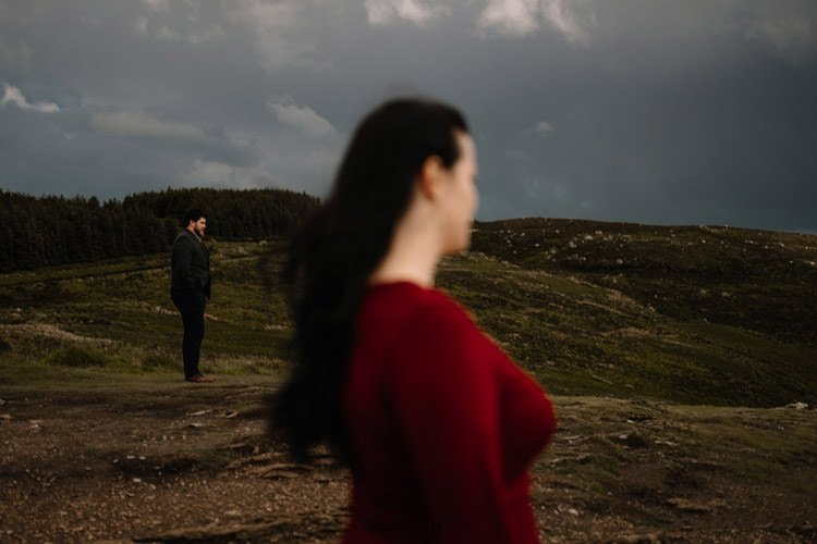 016 wicklow engagement session mountains moody style weather american couple