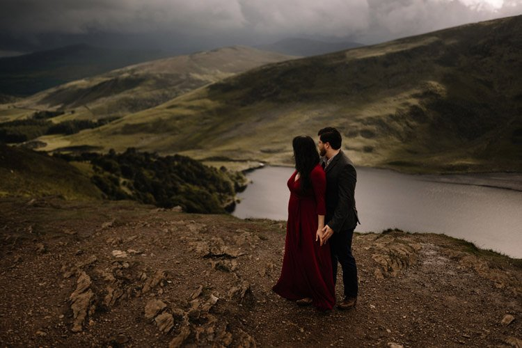 019 wicklow engagement session mountains moody style weather american couple