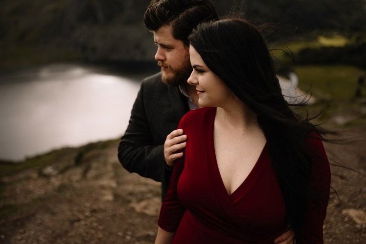 020 wicklow engagement session mountains moody style weather american couple