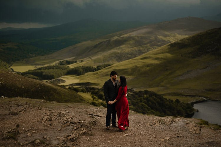 022 wicklow engagement session mountains moody style weather american couple