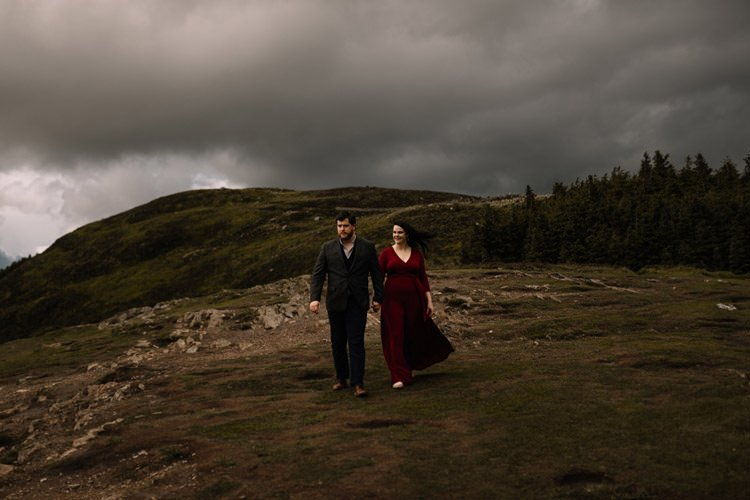 024 wicklow engagement session mountains moody style weather american couple