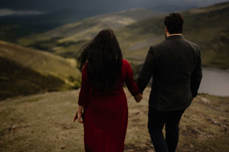 026 wicklow engagement session mountains moody style weather american couple