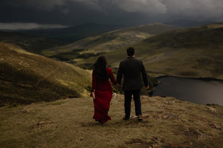 027 wicklow engagement session mountains moody style weather american couple