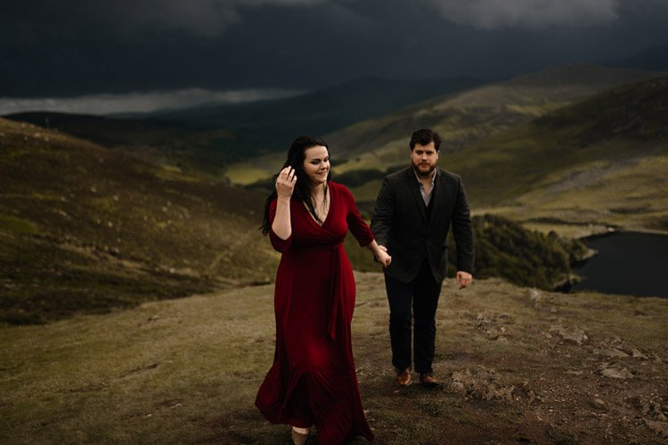 028 wicklow engagement session mountains moody style weather american couple