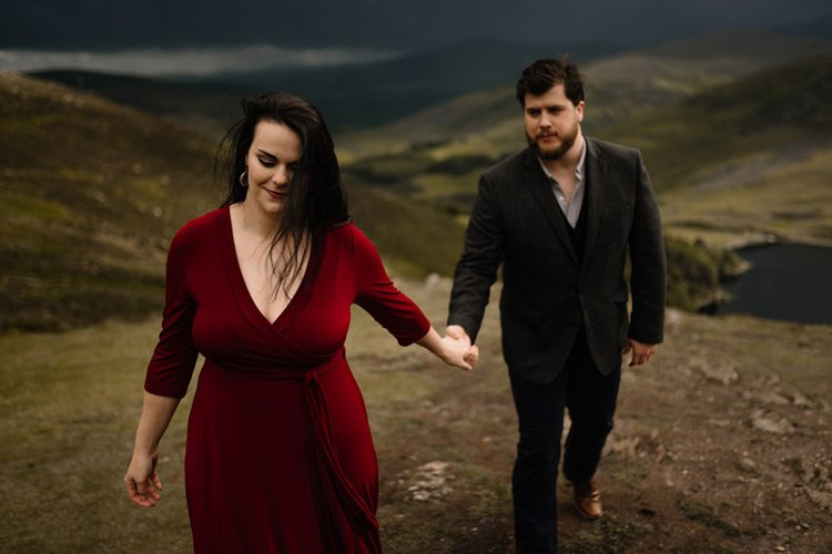 029 wicklow engagement session mountains moody style weather american couple
