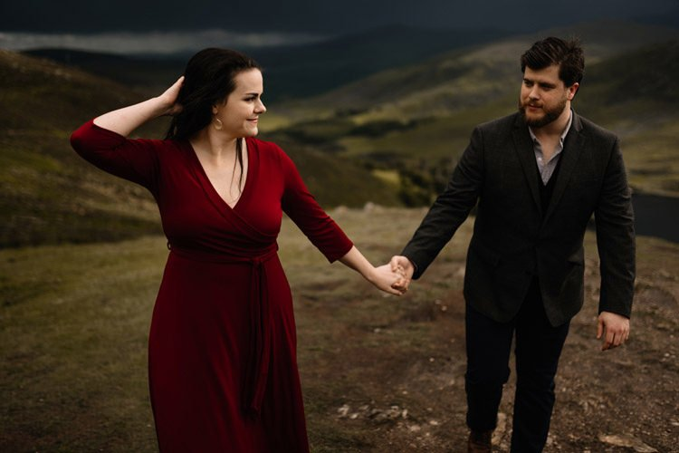030 wicklow engagement session mountains moody style weather american couple