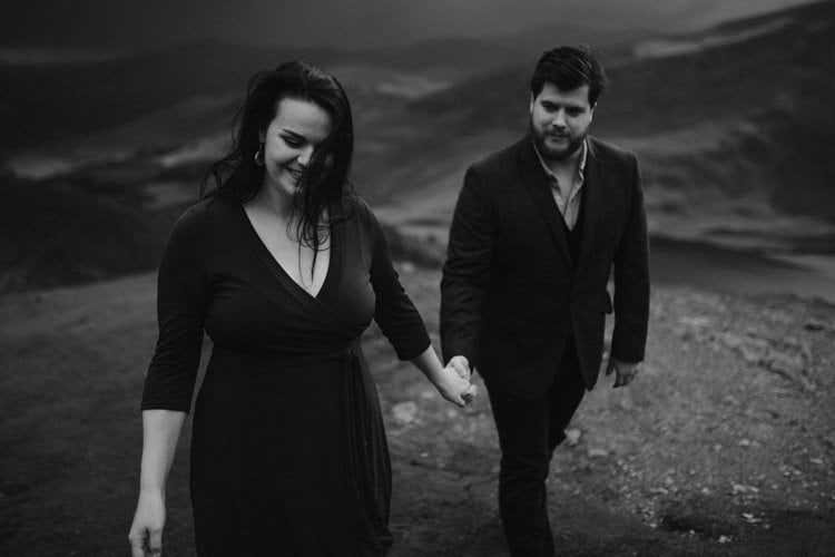 031 wicklow engagement session mountains moody style weather american couple