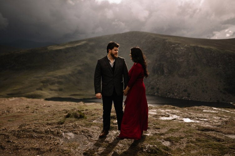 032 wicklow engagement session mountains moody style weather american couple