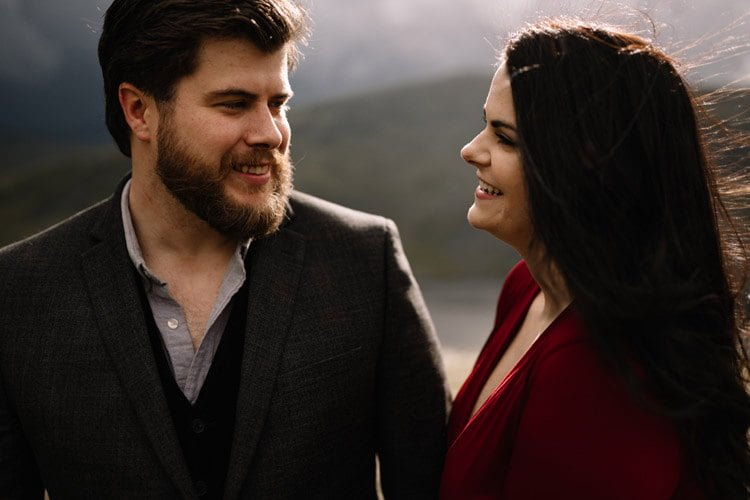 033 wicklow engagement session mountains moody style weather american couple