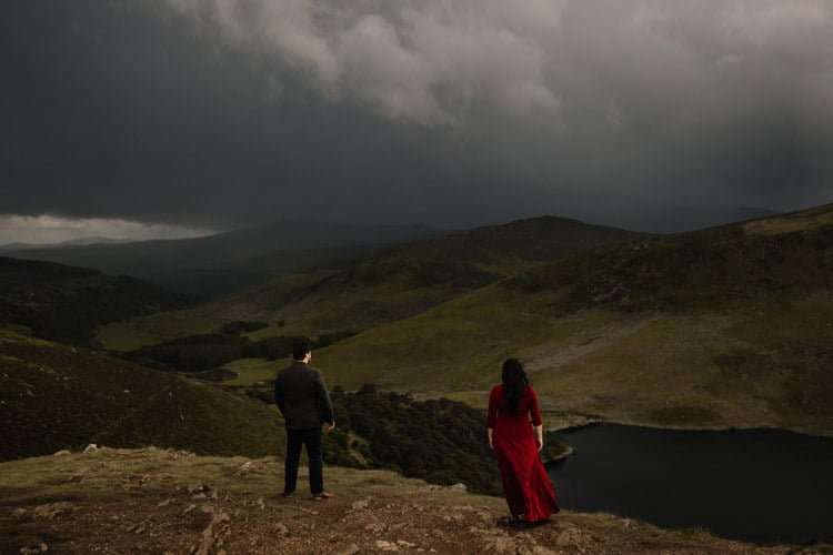 035 wicklow engagement session mountains moody style weather american couple