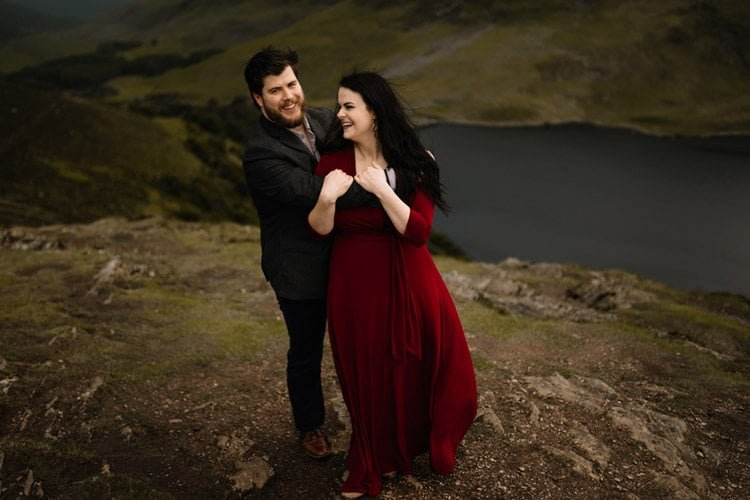 036 wicklow engagement session mountains moody style weather american couple