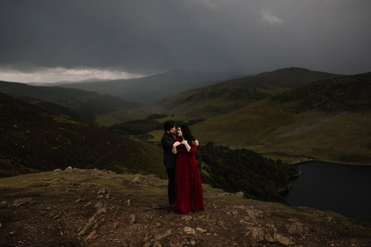 038 wicklow engagement session mountains moody style weather american couple
