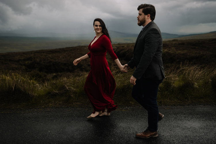 041 wicklow engagement session mountains moody style weather american couple