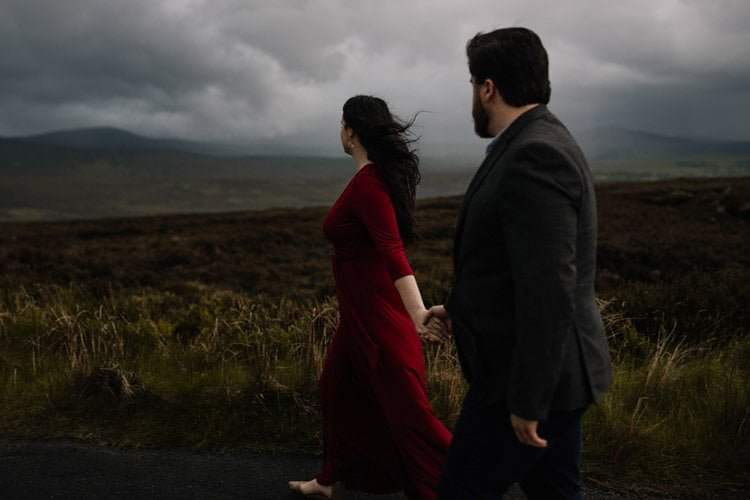 042 wicklow engagement session mountains moody style weather american couple