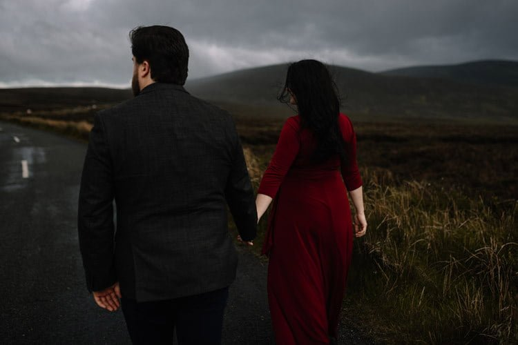 043 wicklow engagement session mountains moody style weather american couple