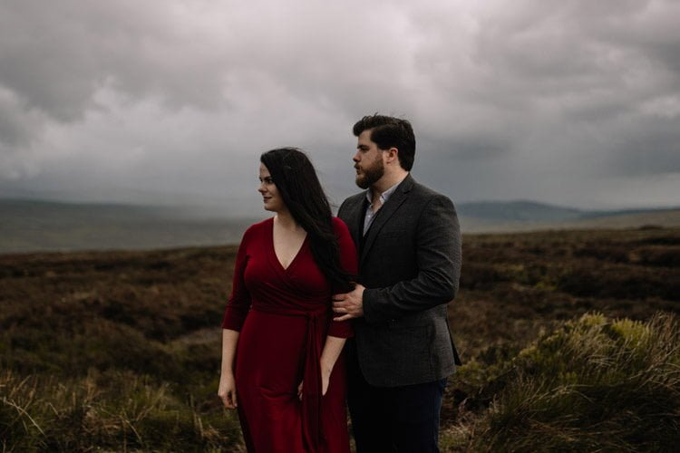 044 wicklow engagement session mountains moody style weather american couple