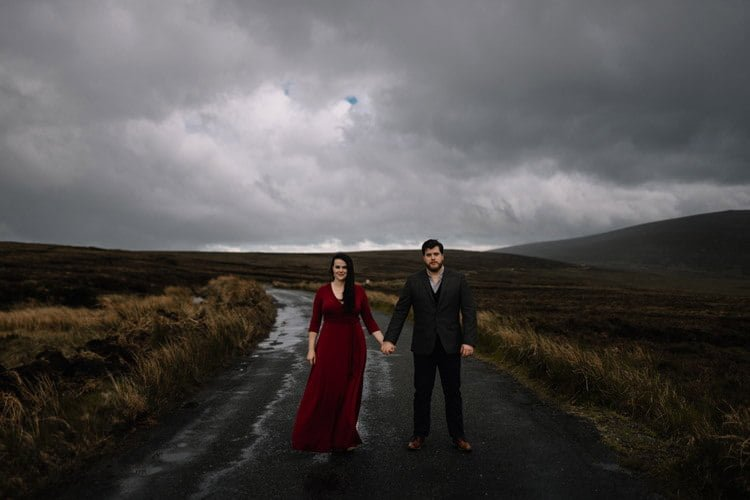 045 wicklow engagement session mountains moody style weather american couple