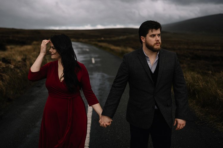 046 wicklow engagement session mountains moody style weather american couple