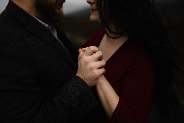 047 wicklow engagement session mountains moody style weather american couple