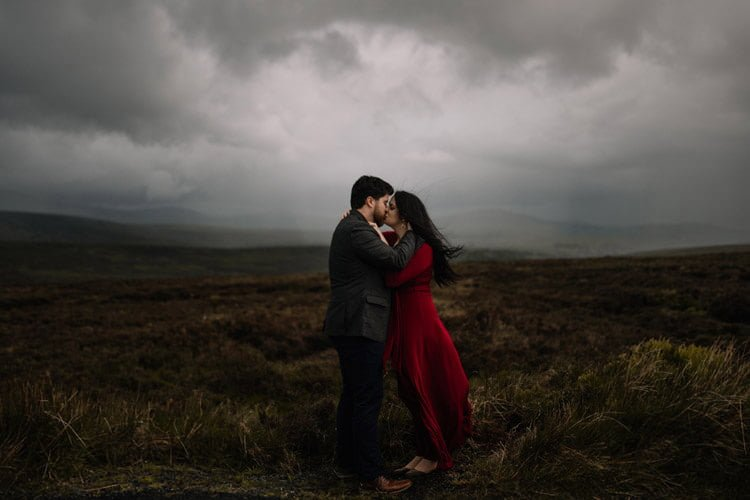 050 wicklow engagement session mountains moody style weather american couple