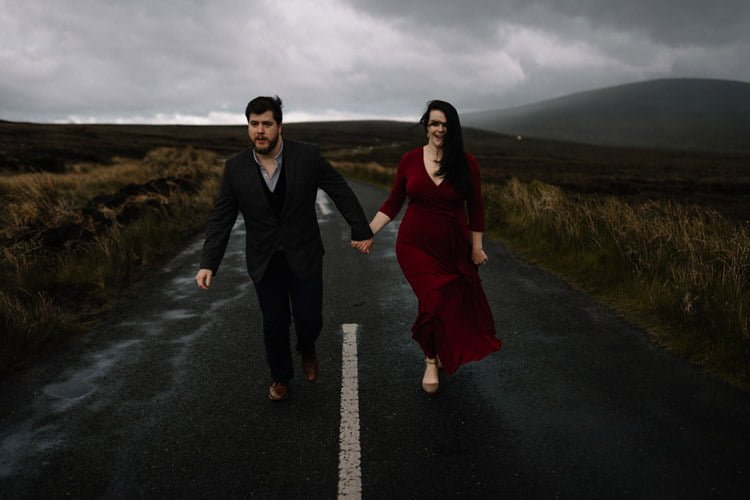 051 wicklow engagement session mountains moody style weather american couple