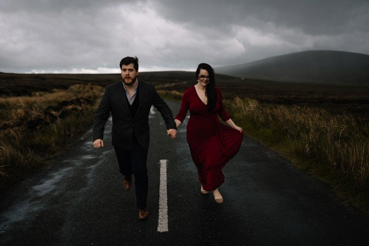 052 wicklow engagement session mountains moody style weather american couple