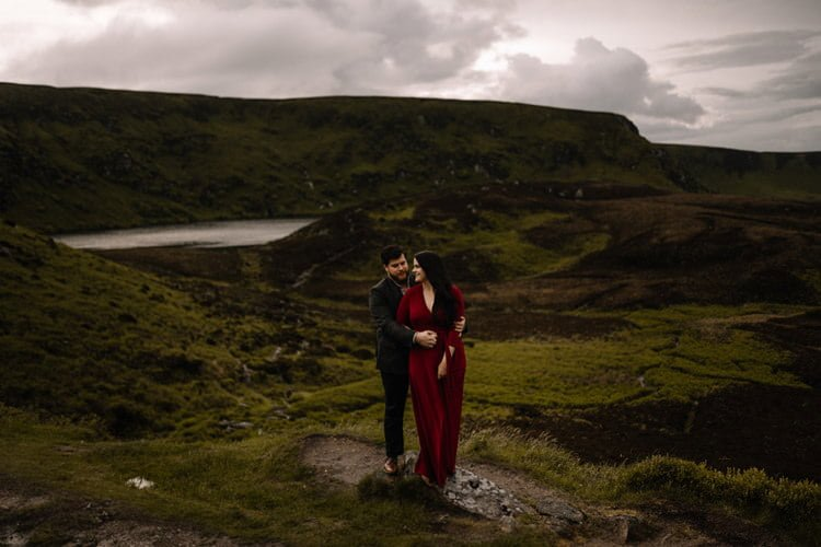054 wicklow engagement session mountains moody style weather american couple