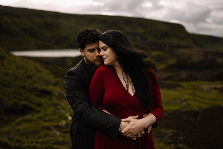 055 wicklow engagement session mountains moody style weather american couple