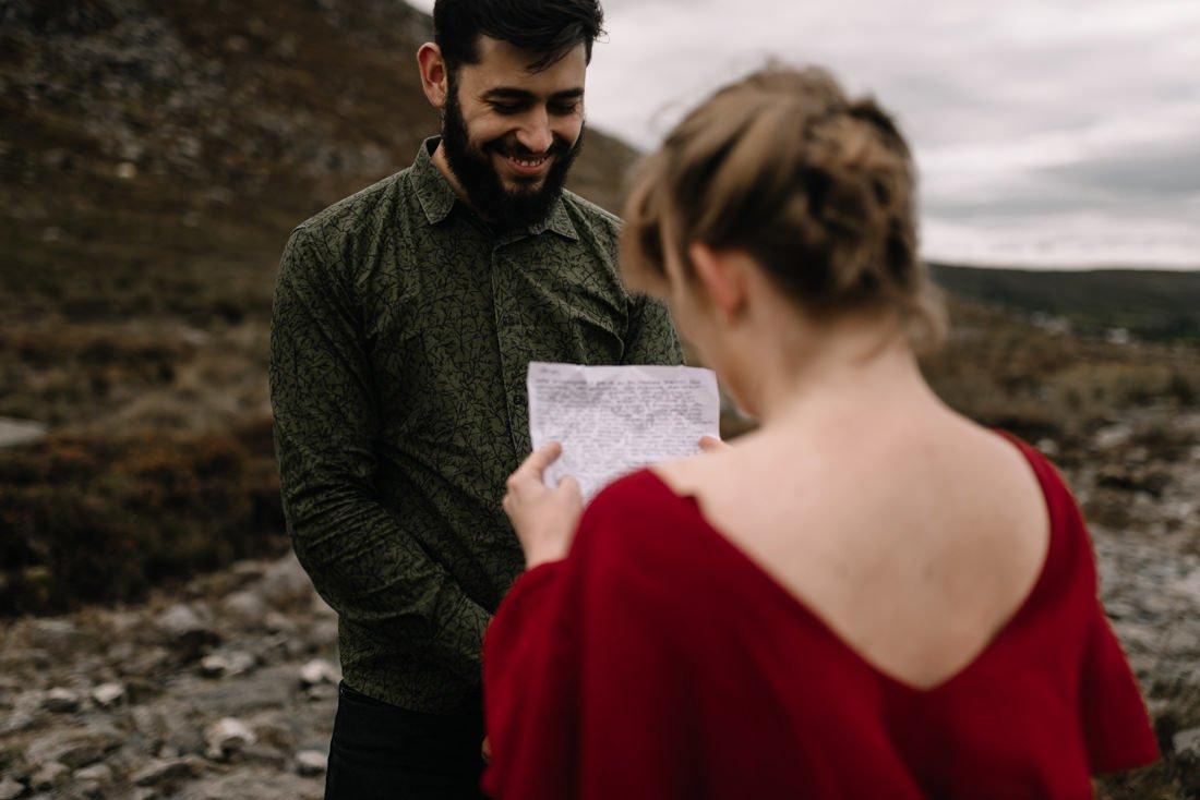 053 northern ireland wedding photographer mourne mountains elopement