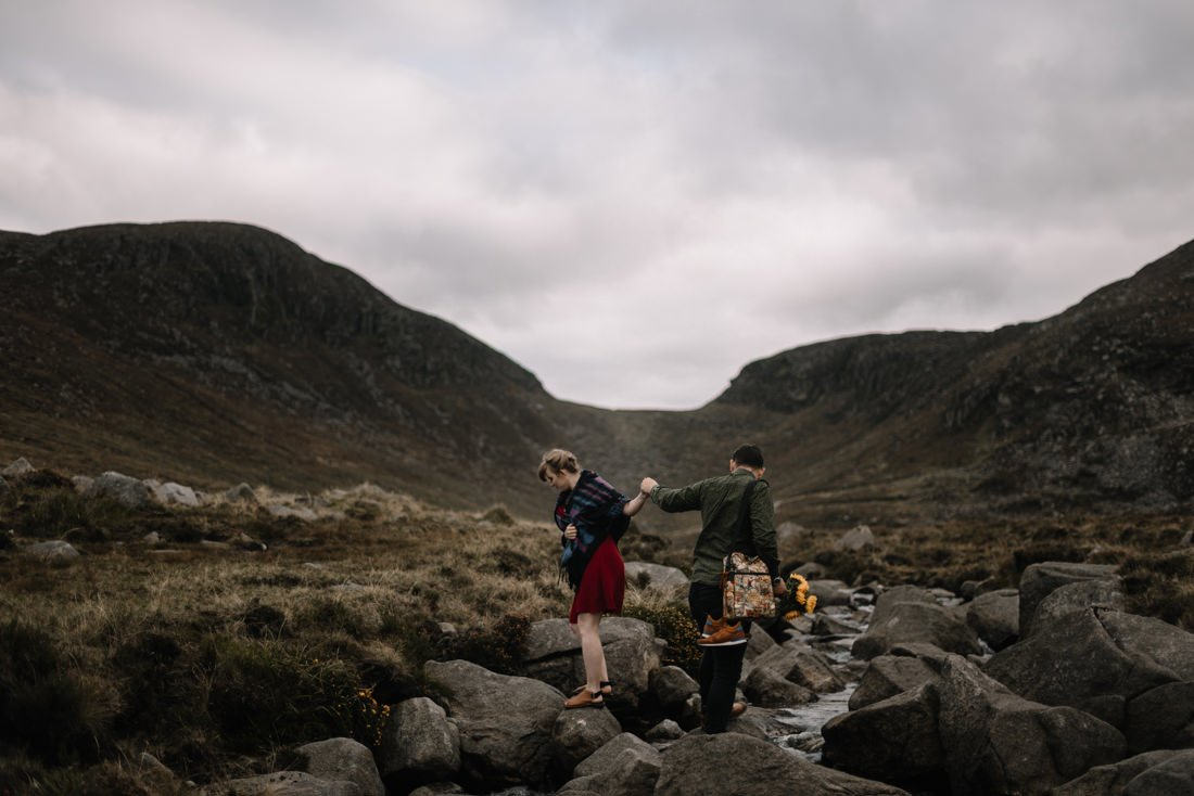 069 northern ireland wedding photographer mourne mountains elopement