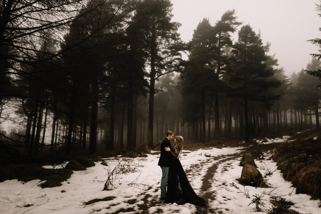 A Snowy Winter Anniversary Shoot In Wicklow Mountains