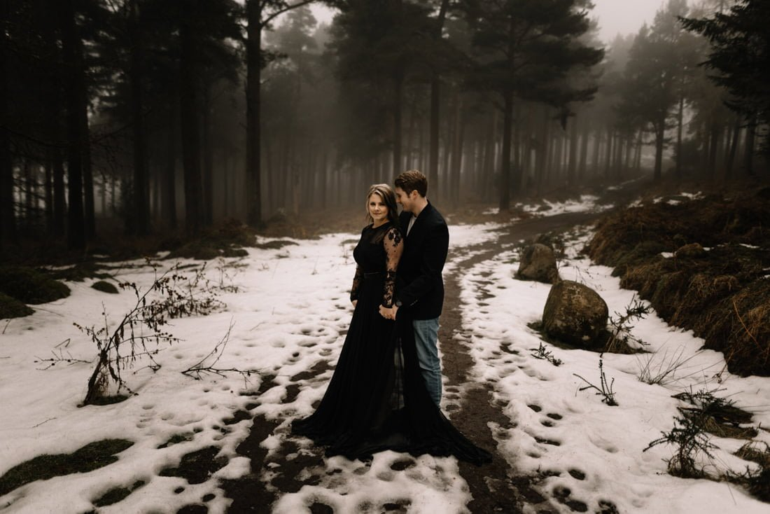 003 a snowy winter anniversary session in wicklow mountains wedding photographer dublin