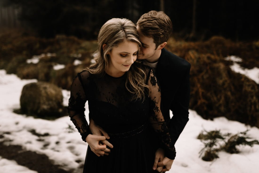 006 a snowy winter anniversary session in wicklow mountains wedding photographer dublin