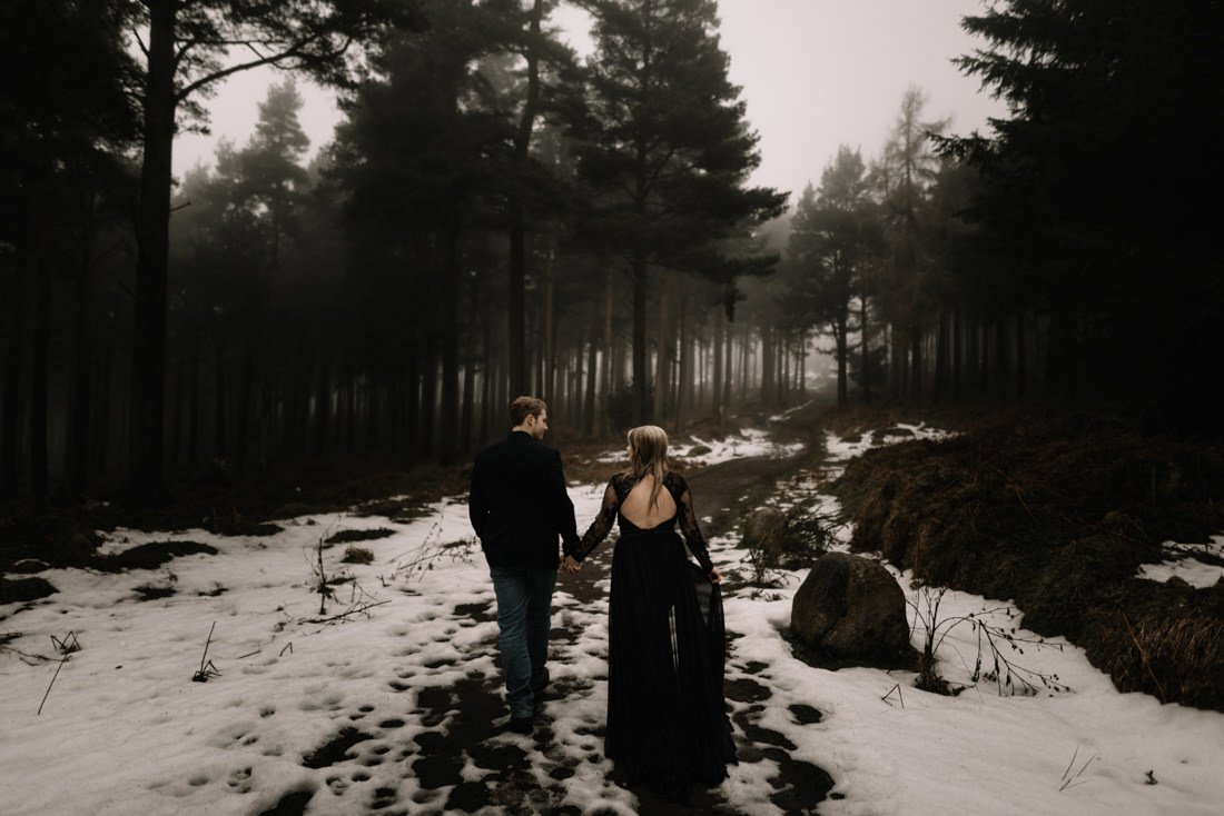 013 a snowy winter anniversary session in wicklow mountains wedding photographer dublin