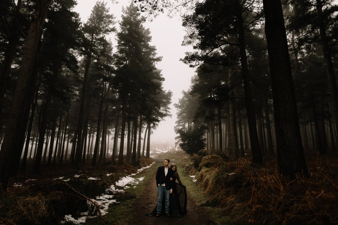 021 a snowy winter anniversary session in wicklow mountains wedding photographer dublin