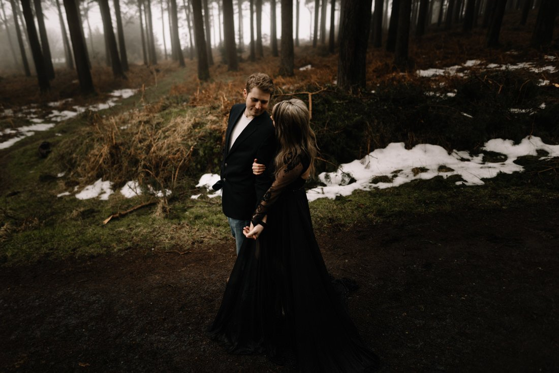 022 a snowy winter anniversary session in wicklow mountains wedding photographer dublin