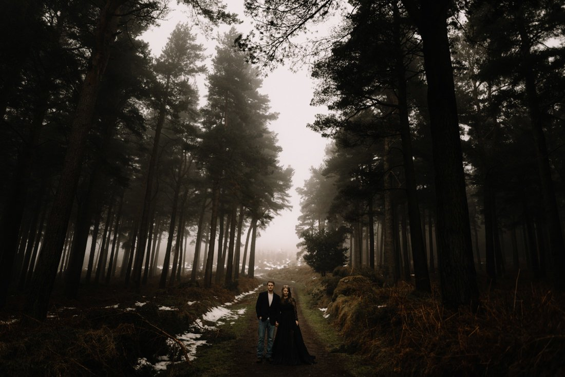 025 a snowy winter anniversary session in wicklow mountains wedding photographer dublin
