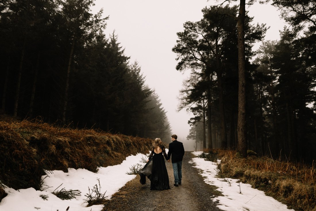 037 a snowy winter anniversary session in wicklow mountains wedding photographer dublin
