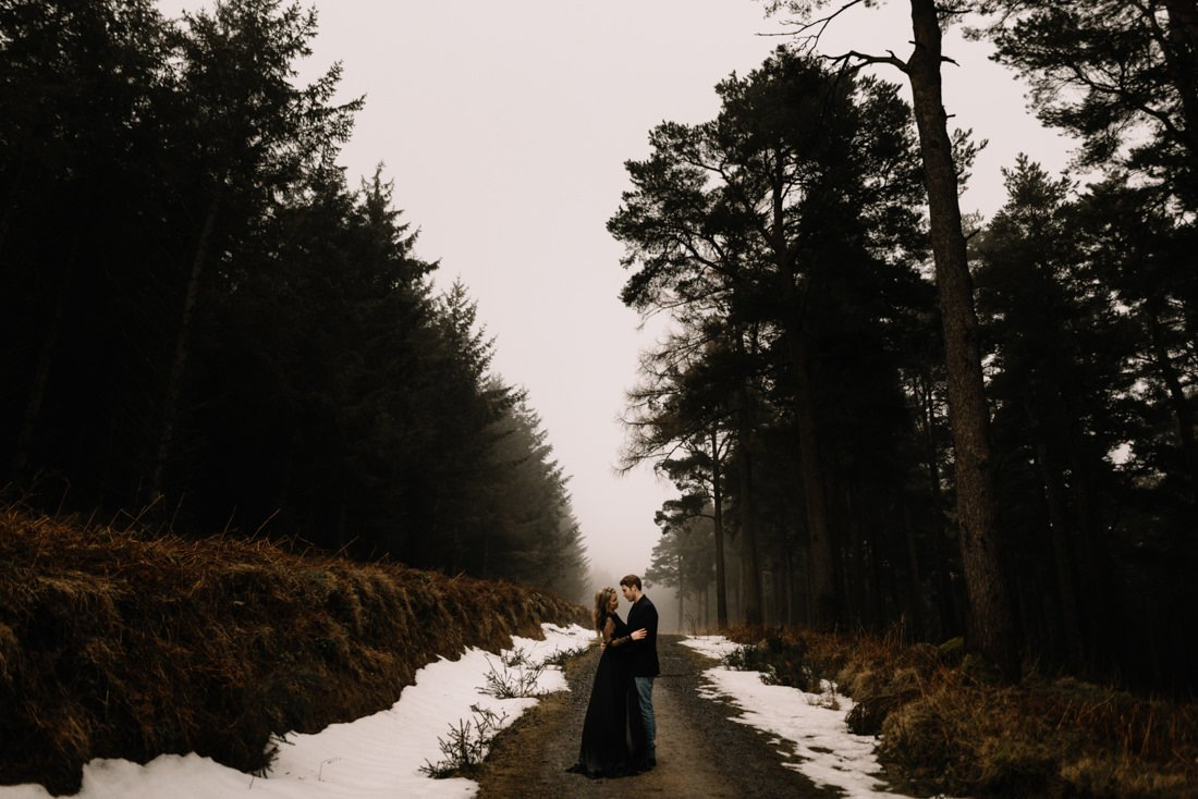 038 a snowy winter anniversary session in wicklow mountains wedding photographer dublin
